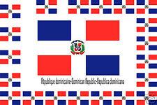 Assortiment lot de10 autocollants Vinyle stickers drapeau République-dominicaine