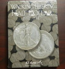 #2694 Walking Liberty Half Dollar Coin Album 1937-1947 Collectible folder Harris