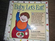 Baby Let's Eat! Rena Coyle & Patricia Messing Paperback Book How to feed a baby