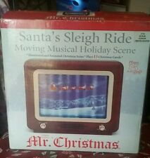 Mr Christmas Santa's Sleigh Ride Moving Musical Holiday Scene