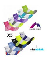RUNNING SOCKS 5 PACK MORE MILE LONDON FAST POST SPORTS MENS LADIES GYM CUSHIONED