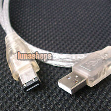 USB MALE TO IEEE 1394 6 PIN FIREWIRE Video TRAVEL Shielding CABLE Adapter