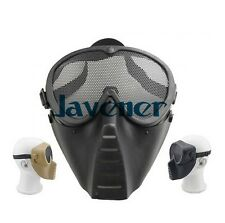 Protective Full Face Tactical combat Mask with steel net mesh Goggle Outdoor