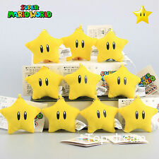 10X Nintendo Super Mario Bros Star Plush Soft Cushion Doll 6cm Keychain Pendant