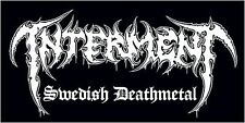 Interment-Swedish deathmetal-Adesivi/Sticker-NUOVO