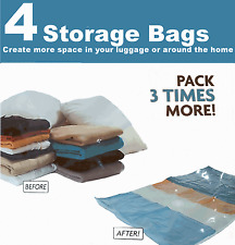 4 x Space Saving Storage Bags Vaccum Vac Spacebags Vacuum (145/0192)