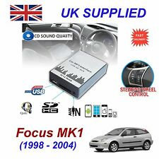 Ford FOCUS MK1 MP3 SD USB CD AUX Input Audio Adapter Digital CD Changer Module