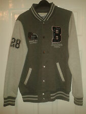 Mens Long Sleeved Jacket - Boston State Chiefs - Baseball Jean - Grey Shades - M