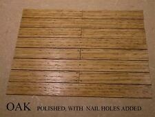 DOLLS HOUSE FLOORBOARDS, FLOORING. OAK.HARDWOOD FLOOR BOARDS. 6 TYPES AVAILABLE