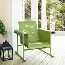 GREEN Outdoor METAL RETRO VINTAGE STYLE GLIDER CHAIR Patio Garden FURNITURE
