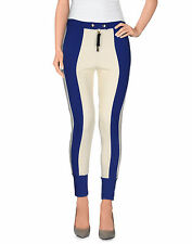 MARNI Winter 2012 Blue White Colorblock Tech Stretch Pants Stripe Leggings 42/6