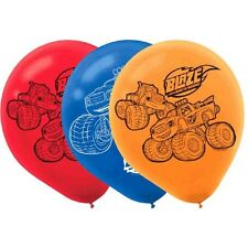 BLAZE AND THE MONSTER MACHINES LATEX BALLOONS (6) Birthday Party Supplies Truck