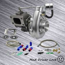 T3/T4 TOE4 .63A/R TURBO CHARGER V-BAND DP +OIL FEED RETURN OIL RESTRICTOR 8PSI