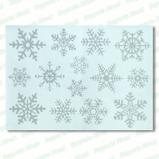 28 Glitter Snowflake Window Stickers Clings Christmas Decorations with Angels