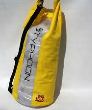 TYPHOON DRY BAG 40 LTR WATERPROOF CARRY KIT SACK SAIL KAYAK CANOE SURF DIVE YELW