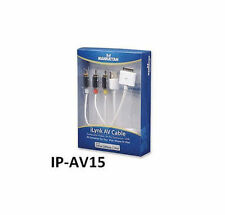 5ft iLynk 3-RCA iPhone, iPod to TV Audio/Video Cable w/ USB Charge & Sync 393713
