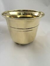 Vintage Solid Brass, Three Ball Footed Planter Plant Pot Holder