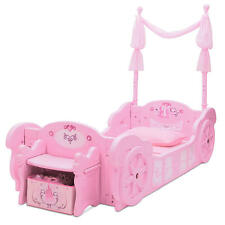 Disney Princess Carriage Toddler to Twin Conversion Bed w/ Storage Bench (Pink)