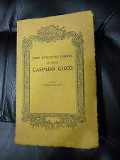 RIME BURLESCHE INEDITE DEL CONTE GASPARO GOZZI a cura di Enrico Falqui 1938