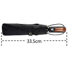 UK Wind Resistant Strong Auto Windproof Classic Vented Men's Black Umbrella