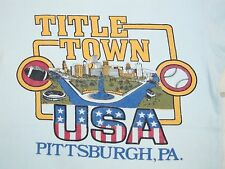 Vintage 70's Little Town USA Pittsburgh Baseball Hometown Soft Rayon T Shirt S
