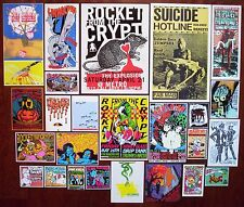 ROCKET FROM THE CRYPT SoCal Punk JABBERJAW Rock Concert mini Posters SET