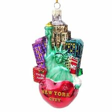 New York CHRISTMAS Ornament KURT ADLER Statue Liberty Big Apple 5""