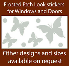 BUTTERFLIES  FROSTED ETCH GLASS SAFETY DOOR WINDOW STICKERS