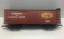 Bachmann Florence Cripple Creek The Gold Belt Line Boxcar # 588 USED G SCALE