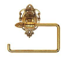 PORTA ROTOLO carta igienica dispenser ottone lucido stile impero da bagno