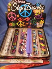 WHOLESALE LOT OF 72 SLAP BRACELETS peace sign skull love heart jewelry new ++