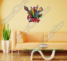 "Paint Paintbrush Art Artist Painter Canvas Wall Sticker Room Interior Decor 22"""
