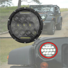 LED Headlight Projector Daymaker Lamp JEEP 7 INCH Yamaha V-Star Road Heritage