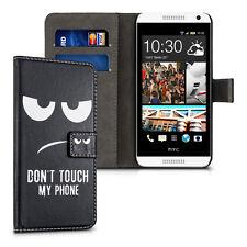 kwmobile Schutz Hülle für HTC Desire 610 Don't touch my Phone Kunstleder Schutz