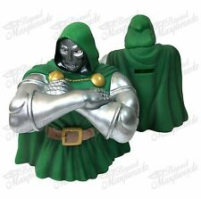 Marvel Dr Doom Superman Figure Statue Bust Licensed Piggy Coin Bank