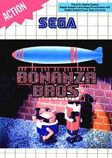 Bonanza Bros SEGA Master System Framed Print (Man Cave Picture Poster Game Art)