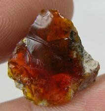 6.55ct Mexico 100%  Natural Raw Rough Fire Opal Matrix Crystal Specimen 1.30g