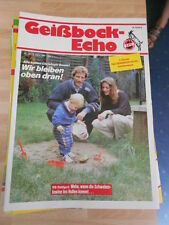 Geißbock Echo 1 FC Köln Nr.10 vom 5.3.1988 gegen VFB Stuttgart