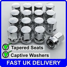 16 x CHROME NUTS FOR FORDS WITH AFTER-MARKET ALLOY WHEELS OZ TSW FOX AEZ [VV4]