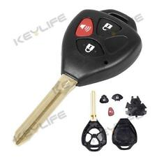 3 BUTTON REPLACEMENT REMOTE KEY SHELL UNCUT KEY BLANK FOR TOYOTA Matrix RAV4