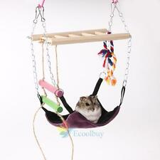 Hammock Rat Hamster Parrot Squirrel Guinea Pig Rabbit Hanging Bed Toy House #