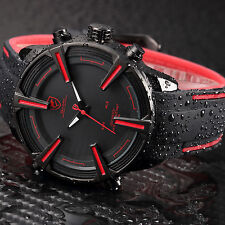 Shark Fashion Mens Digital LED Date Day Rubber Army Sport Quartz Men Wrist Watch
