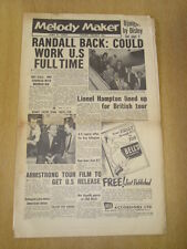MELODY MAKER 1956 JUNE 9 FREDDY RANDALL NAT KING COLE LOUIS ARMSTRONG JAZZ SWING