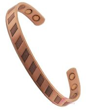 Magnetic Mens Ladies Bracelet COPPER Bangle Arthritis Magnetic Therapy