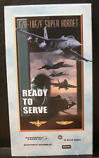 RARE VHS READY TO SERVE F/A 18E/F SUPER HORNET F18 MIGHTY WINGS CHEAP TRICK