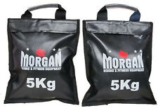 2 X 5KG SAND BAG POCKETS WEIGHTS GYM FITNESS CROSSFIT BOOTCAMP TRAINING STRENGTH