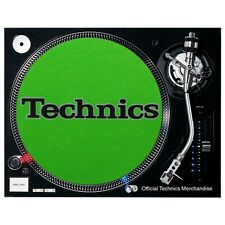Slipmats Technics Green / Neon Grün - Black Logo (1 Stück / 1 Piece) NEU+OVP!