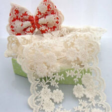 "Lace Trim Beige Rose Embroidery Wedding Trim 4.33"" width 2 yards"