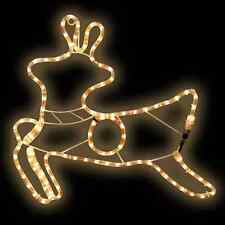 Reindeer Outdoor Indoor Christmas White Rope Light Decoration Plug Fitted