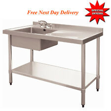 Heavy Duty Stainless Steel Commercial Catering Kitchen Sink unit 1000Wx600Dmm